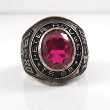 Vintage Sterling Silver 1980 Peter Rouget School Class Ring Size 10 LFB4
