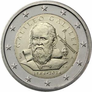 Italy, 2014, 450th Anniversary of Galileo 2 euro commemorative coin