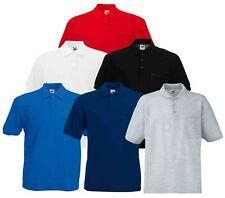 Fruit Of The Loom Mens Pocket 65/35 Pique Cadat collar Polo Shirts T-shirt