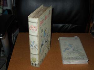 Bird Storage Box Accent Decor Faux Book with Postcard Storage Box Faux Book