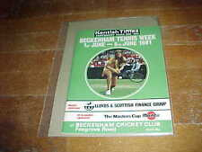 1981 Beckenham Lawn Tournament Tennis Program Robertson Cup Masters Cup Bowring