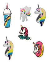 Glitter Unicorn Sparkly Embroidered Sew Iron On Patch Badge