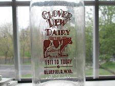Milk Bottle Clover Dew Dairy Bluefield W. Va