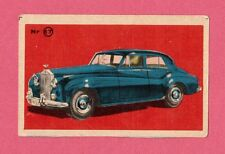 Car from 1956  Vintage 1950s Car Collector Card from Sweden