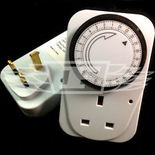 3 x 24 HOUR 24HR MAINS PLUG IN MECHANICAL TIMER SWITCH TIME CLOCK SOCKET UK PLUG