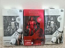 Star Wars Carbonized Stormtrooper x2 and Carbonized Sith Trooper Black Series