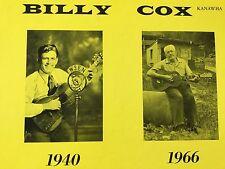 "BILLY COX ""THE DIXIE SONG BIRD"" vinyl LP Kanawha 305 M- +bonus CD"