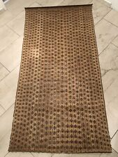 Old Tuareg Ashanti Mauritania african tribal art woven reed wood mat rug