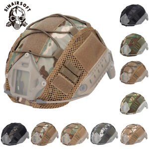 Tactical Military Camo Fast Helmet Cover for Camo Airsoft Hunting Headwear Army