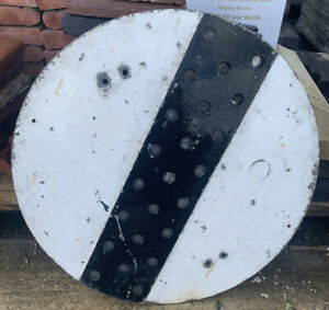Reclaimed National Speed Limit Aluminium Reflective Glass Vintage Road Sign