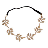 N1R5 New Fashion Gold Leaf Festival Grecian Garland Hippy Forehead Head Hair Ban