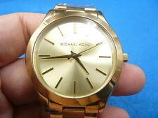 New Old Stock MICHAEL KORS Runway MK3179 Gold Plated Quartz Men Watch