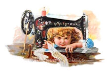 Singer Thread Girl Crazy Quilt Block Multi Sizes FrEE ShiPPinG WoRld WiDE (S8
