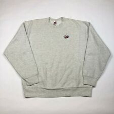 Vintage 80s 90s Fruit of the Loom Embroidered Logo Sweatshirt Made in USA sz L