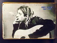 Kurt Kobain Poster-Vintage&Retro Style Small Metal Sign Music Wall Decor