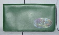 Thomas Kinkade Churches Leather Green Checkbook Cover Holder