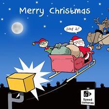 Merry Christmas Card with Santa & Speed Camera - Xmas Card -Funny Christmas Card