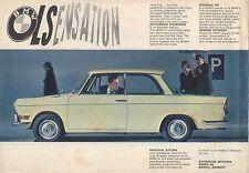 BMW 700 LS Saloon 1962-63 Original UK Single Sheet Sales Brochure Pub No W224300