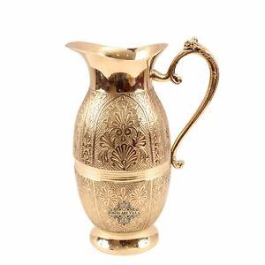 Shahi Raja Jug Pitcher Handmade design Villa Brass  Designer    1300 ML  
