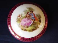 Limoges Porcelain Powder/Trinket Box - Vintage Limoges, Lovers Decoration