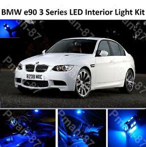 PREMIUM Blue BMW E90 3 Series 04-11 FULL LED Light UPGRADE Interior KIT