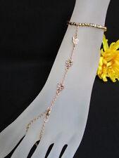 NEW WOMEN GOLD METAL ANKLET LEG SLAVE FOOT BRACELET CHAIN BODY JEWELRY BUTTERFLY