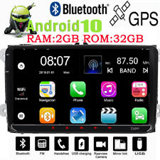 for VW Android 10 WiFi 2DIN Radio GPS 9 Inch 32GB ROM Car Stereo Player Carplay