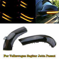 2x Dynamic Flowing LED Mirror Turn Signal Light For Passat B6 VW Golf5 Jetta MK5