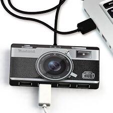 USB Super Hub Practical 4 Ports Multiple USB Hub Mustard Vintage Camera Retro