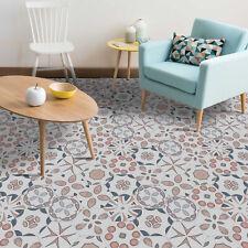 Walplus Peach Abstract Hexagon Floor Tiles Stickers, Home Decorations, DIY Art,