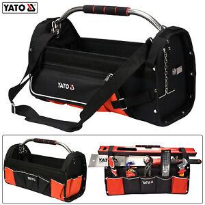 Profi Werkzeugtasche Werkzeugkoffer 12 Fächer Elektriker Montagetasche mit Griff