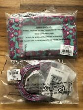 Lighten Up Ditsy Dot Zip Id /Case Credit Card Holder & LANYARD NWT
