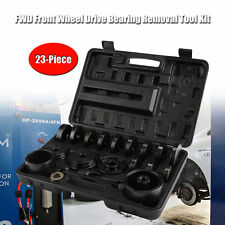 23pcs Front Wheel Bearing Press Kit Removal Adapter Puller Pulley Tool Case Set