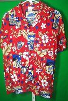 Beachwear Men's Hawaiian Shirt, Short Sleeve,Size Large