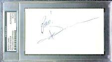 JOHN DENVER Signed 3 x 5 Index Card - Authenticated & Slabbed by PSA