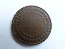 Pièce monnaie TUNISIE TUNISIA 5 cts 1914 A état voir scan