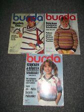 3 Burda Strick & Bastelhefte