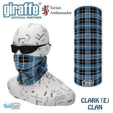 Clark Clan Scottish Tartan Multifunctional Headwear Bandana tube neckwarmer