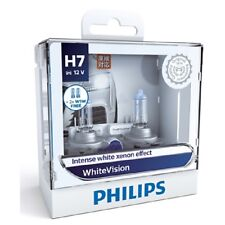 Philips H7 White Vision Intense White Xenon Effect Light Globe Pair 12v 55w Bulb