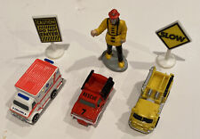 vintage micro machines emergency vehicles and road signs
