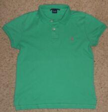 RALPH LAUREN SPORT Polo shirt short/sl  Green 100% Cotton  Womens L