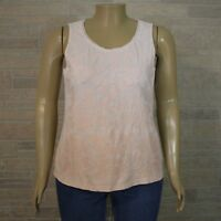 By Chico's Misses 2 LARGE 12 Tank Top Shirt Pink Ombre Embroidered Applique
