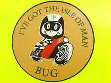 He entendido la isla de Man Bug Tt ventiladores van Car calcomanía calcomanía 1 De 90 Mm