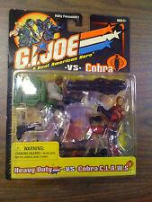G.I. JOE ARAH 2 pack Heavy Duty vs Cobra C.L.A.W.S. Black Card NEW Free Ship US