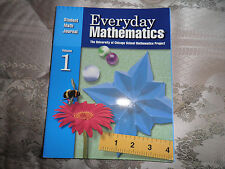 Everyday Mathematics: Student Math Journal 1 Univ of Chicago Math Project NEW