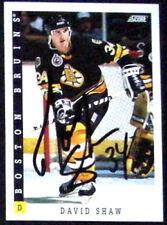 David Shaw Boston Bruins 1993-94 Score Signed Card