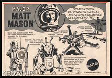 PUB / PUBLICITE ADVERTISING  MATT MASON  Vintage 1970