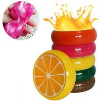 6PC Crystal Fruit Clay Rubber Mud Intelligent Hand Gum Plasticine Slime Kid Toys