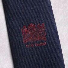 1ST XI FOOTBALL CREST MOTIF TIE VINTAGE RETRO NECKTIE NAVY RED 1970s 1980s CLUB