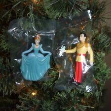 Disney 2 piece Cinderella & Prince Charming Ornament Set
